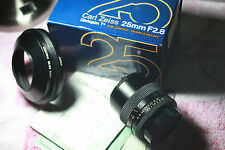 Contax Zeiss Distagon T 25mm F/2.8 Lens MMJ EXT IN BOX with docs and Contax hood