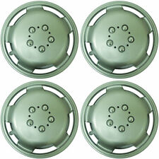 "Extra Deep Dish 15"" Car Wheel Trims Hub Caps Plastic Covers Silver Universal (4P"