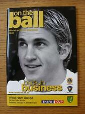 07/01/2006 Norwich City v West Ham United [FA Cup]