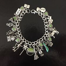 Wicked Charm Bracelet, Wizard Of Oz, Elphaba, Green Witch, Glinda The Good Witch