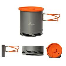 Portable Anodized 1L Pot Cup for Outdoor Camping Picnic Cookware with Mesh Bag