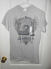 New Delta Mens Motorcycle Los Angeles Biker Bandits Gray T-Shirt Small 34/36 NEW
