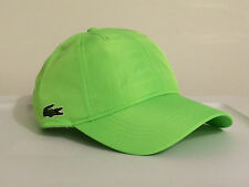 Lacoste Roddick Classic Side Croc Fast Dry Poly Hat Cap $50 NWT Yellow Green