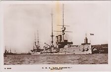 Royal  Navy Real Photo. HMS King Edward VII Battleship.  c 1915