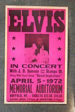 Elvis Tour Poster 1972 Memorial Auditorium Buffalo NY
