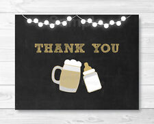 BaByQ Baby Is Brewing Beer & BBQ Thank You Card Printable