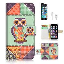 iPhone 6 (4.7') Flip Wallet Case Cover! P0648 Owl