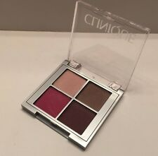 Clinique All About Shadow Quad-23 Hazy/Ballet Flats/AX chocolate/ CA Raspberry~