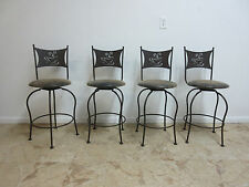4 Scrolled Metal Coffee House Counter Bar Dining Room Stools Chairs