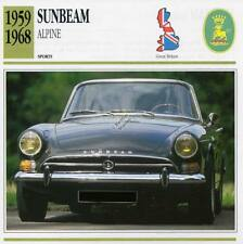 1959-1968 SUNBEAM ALPINE #2 Sports Classic Car Photo/Info Maxi Card