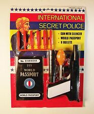Vintage 1990's International Secret Police Toy Gun with Projectiles