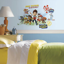 Giant PAW PATROL WALL DECALS Ryder & Puppies Stickers Kids Room Dog Puppy Decor