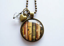 Book Necklace - Book Jewelry - Librarian Pendant  Gift For Writer Bibliophile
