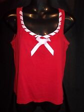 VICTORIA'S SECRET Red Knit Pajama TOP Sleeveless Women's  SIZE SMALL