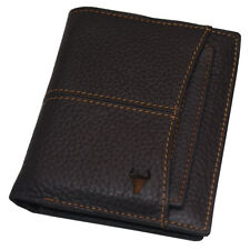 Credit Card Wallet Vintage Leather Wallets For Mens Zipper Coin Pocket Purse