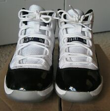 Nike Air Jordan XI 11 Retro White/Black Concord 378038-107 GS Sz 2Y