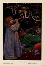 CHRISTMAS TREE DECORATIONS CANDLE YOUNG GIRL BUGLE REVEILLE TOY DRUM RACQUET