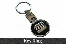 Seat Metal Key Ring Key Chain Key fob Keyring Altea Exeo Ibiza Toledo Black /011