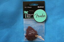 Fender California Clear Candy Apple Red Medium Gauge Guitar Picks, 12 Pack