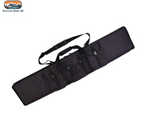 Black Rifle Tactical Weapons Padded Case with 3 Utility Pouch Airsoft Shooting