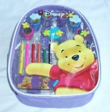 Disney Winnie the Pooh Backpack Art Set Stamper Color Pencil &Topper B-day Gift