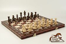 GREAT ''CONSUL'' WOODEN CHESS SET 48X48! WEIGHTED STAUNTON No.5 !!!