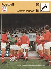 FOOTBALL carte joueur fiche photo JIMMY ARMFIELD ( ANGLETERRE )