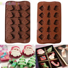 Xmas Chrismas Silicone Cake Decorating Mould Candy Cookies Chocolate Baking Mold