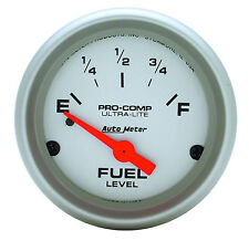 """AUTOMETER ULTRA LITE PRE-1965 CHEVY GM BUICK ANALOG FUEL LEVEL GAUGE 2 1/16"""""""
