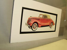 1938 Ford  from Artist Auto Museum  Full color Illustrated not a photo