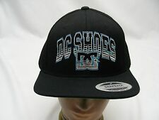 DC SHOES - BLACK - EMBROIDERED - ADJUSTABLE SNAPBACK BALL CAP HAT!