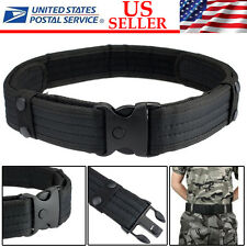 Woodland Camo Waistband Tactical Hunting Outdoor Sports Field Duty Belt BLACK