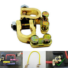 UNIVERSAL BATTERY TERMINAL CONNECTOR PAIR BRASS CLAMP POSITIVE AND NEGATIVE