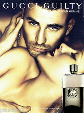 PUBLICITE ADVERTISING 086  2012  Gucci Guilty   parfum pour homme