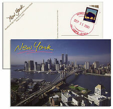 World Trade Center Postcard -- Postmarked on 9/11