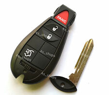 Spare 4 Buttons Smart Key Shell Case For Chrysler Jeep Commander Grand Cherokee