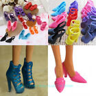 10-60 Pairs Mix Color Fashion High Heel Shoes Cloth Accessories Barbie Doll