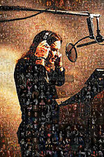 LARGE ORIGINAL MOSAIC PHOTO POSTER IN VARIOUS COLOURS OF OZZY OSBOURNE No 4