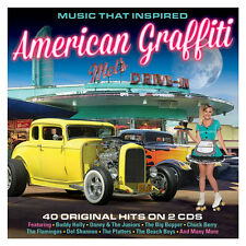 Music That Inspired AMERICAN GRAFFITI Various Artists BEST OF 40 SONGS New 2 CD