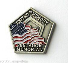 SEPTEMBER 11 PENTAGON MEMORIAL 911 UNITED STATES LAPEL PIN BADGE 1 INCH