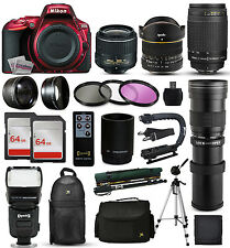 Nikon D5500 Red DSLR SLR Camera + 18-55mm VR II + 70-300mm G + 420-1600mm + More