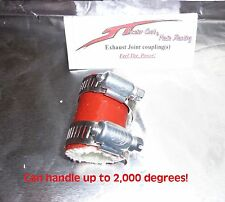 "RED YAMAHA BLASTER HIGH TEMP RUBBER EXHAUST CLAMP YFS 200 1""ID"