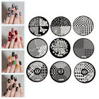 NEW DIY Nail Art Image Stamp Stamping Plates Manicure Template 9 Styles IG