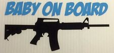 Baby On Board AR-15 Gun Decal Sticker Funny Family Choose Colors! Assault Rifle