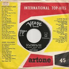 """45 TOURS / 7""""JAZZ-ELLA FITZGERALD-WHAT IS THIS THING CALLED LOVE / NIGHT AND DA"""