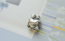 AUTHENTIC PANDORA silver CHARM bead #791517 happy mother's day heart kids new
