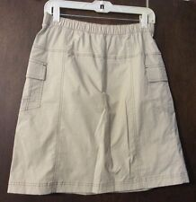 Sport Savvy Beige/Khaki Cotton Nylon Trail Hiking Cargo Pocket Skort (Size S)