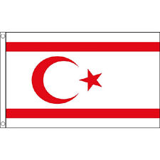Cyprus North Flag 5Ft X 3Ft Cypriot Turkey Turkish Banner With 2 Eyelets New