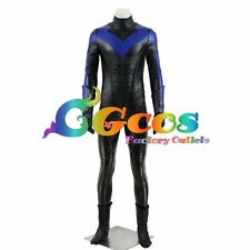Free Ship Cosplay Costume Batman Arkham City Nightwing Dick Grayson Uniform Blue