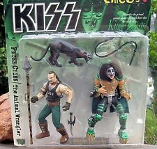 1998 McFarlane Kiss Psycho Circus Figures Peter Criss + The Animal Wrangler MOC